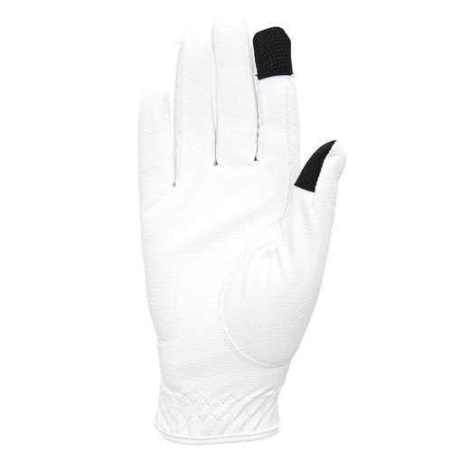 ALEQUI riding gloves touch white front full