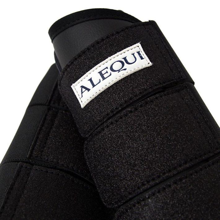 ALEQUI boots black glitter close-up